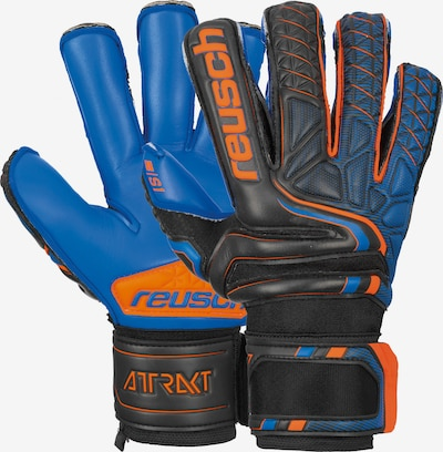 REUSCH Torwarthandschuhe 'Attrakt S1 Evolution Finger Support' in blau / schwarz, Produktansicht
