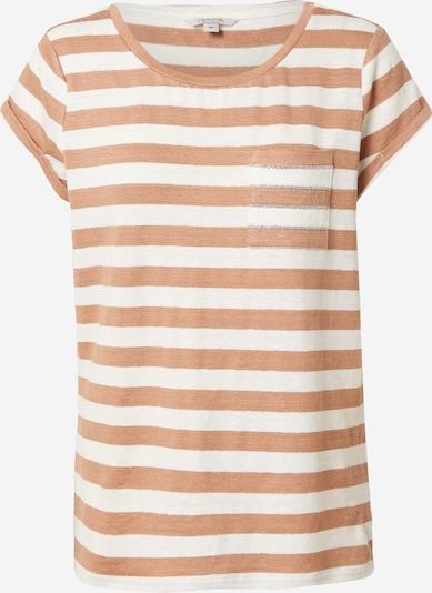 Ci comma casual identity T-shirt en noisette / blanc naturel, Vue avec produit