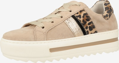 GABOR Sneaker in camel / dunkelbraun / schwarz / silber, Produktansicht