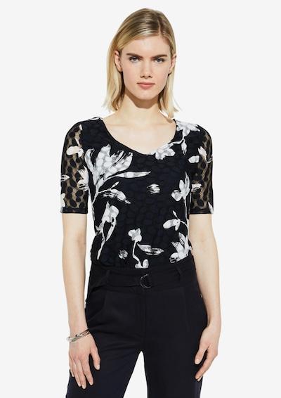 COMMA Shirt in schwarz / weiß: Frontalansicht