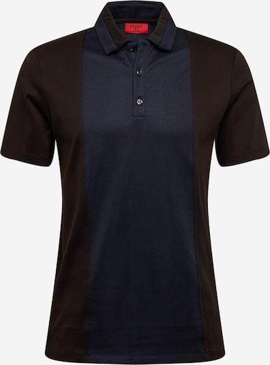 HUGO Shirt 'Dhino' in de kleur Nachtblauw / Donkerbruin, Productweergave