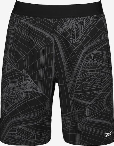 REEBOK Pantalon de sport 'Speed AOP' en noir, Vue avec produit