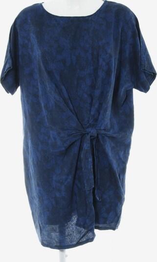 MANGO Kurzarmkleid in M in blau / schwarz: Frontalansicht