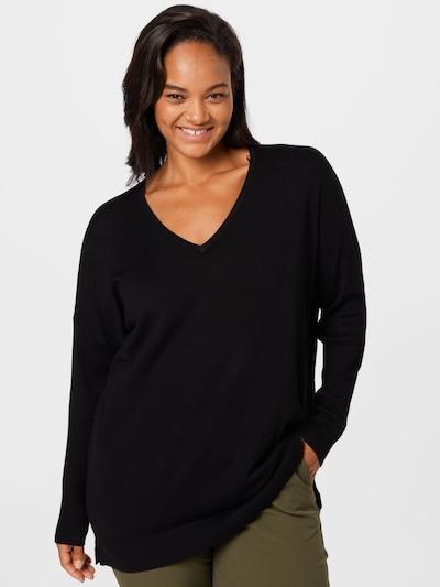KAFFE CURVE Pullover 'Machi' in schwarz, Modelansicht
