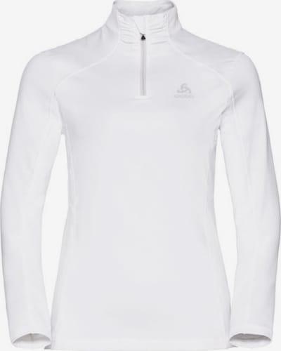 ODLO Pullover 'Midlayer 1/2 zip STEEZE' in weiß, Produktansicht