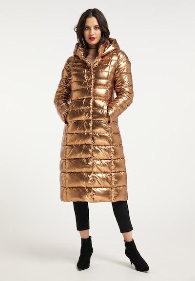 faina Wintermantel in gold, Modelansicht