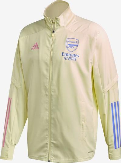 ADIDAS PERFORMANCE Vestes d'entraînement 'FC Arsenal ' en bleu clair / jaune clair / rose: Vue de face