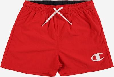 Șorturi de baie Champion Authentic Athletic Apparel pe roși aprins / alb, Vizualizare produs