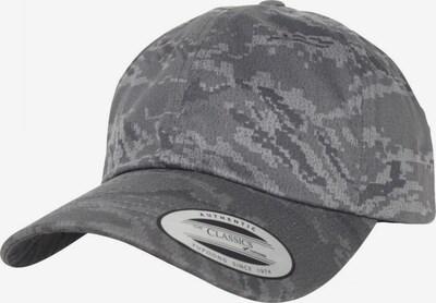 Flexfit Cap in grau / dunkelgrau / weiß, Produktansicht