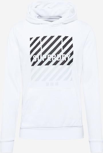 Hanorac sport Superdry pe gri deschis / negru / alb, Vizualizare produs