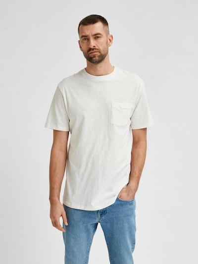 fehér SELECTED HOMME Póló 'SLHREGCARLOS', Modell nézet