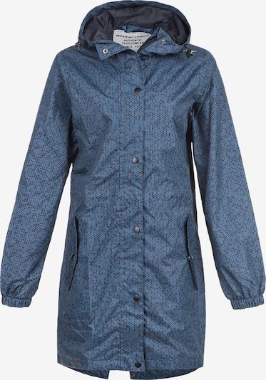 Weather Report Regenmantel 'ALESSA PRINTED' in blau / schwarz, Produktansicht