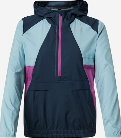 ASICS Sportjacke in blau / dunkelblau / lila, Produktansicht