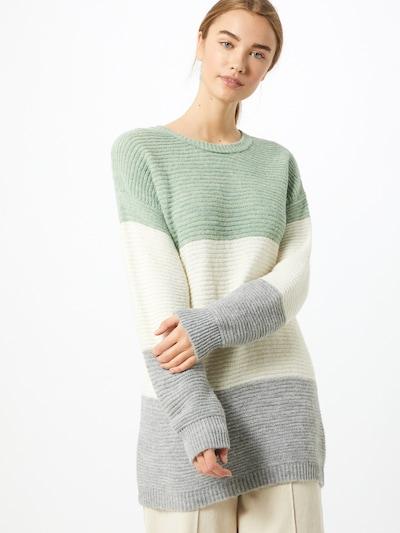 ABOUT YOU Trui 'Larissa' in de kleur Grijs gemêleerd / Mintgroen / Wit, Modelweergave
