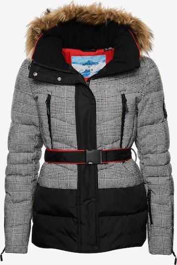 Superdry Snow Skijacke in grau / schwarz, Produktansicht
