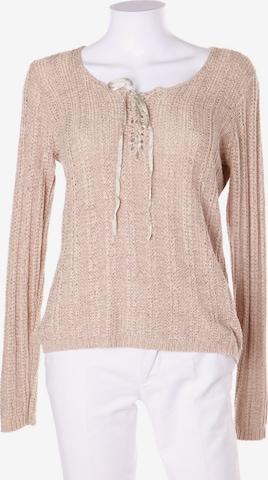Mandarin Sweater & Cardigan in S in Beige