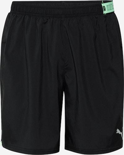 PUMA Pantalon de sport en gris / pomme / noir, Vue avec produit