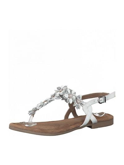 Žabkové sandály MARCO TOZZI ve zlaté a bílé barvě