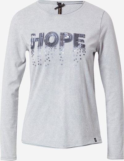 Key Largo Shirt 'HOPEFUL' in grau / hellgrau, Produktansicht