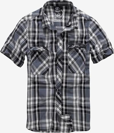 Brandit Chemise 'Roadstar' en gris foncé / noir / blanc: Vue de face
