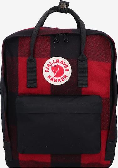 Fjällräven Rucksack 'Kånken' in rot / schwarz: Frontalansicht