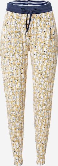 Mey Pidžama hlače 'Samantha' u tamno plava / žuta / krvavo crvena / bijela, Pregled proizvoda