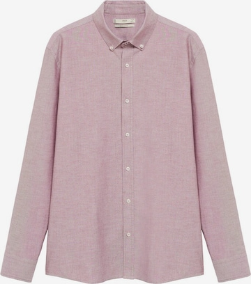 MANGO MAN Button Up Shirt 'Oxford' in Pink