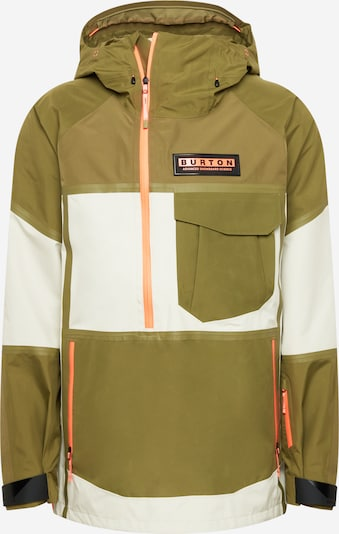 BURTON Athletic Jacket in Olive / White, Item view