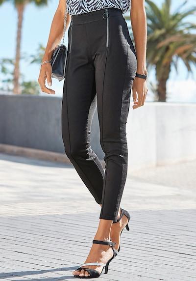 LASCANA Jeans pajkice | črna barva, Prikaz modela
