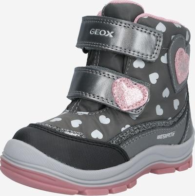 GEOX Kids Stiefel in grau / pink / weiß, Produktansicht