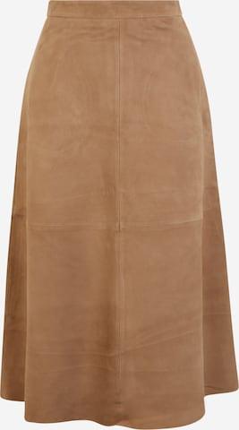 Y.A.S Tall Skirt 'JOELLE' in Brown