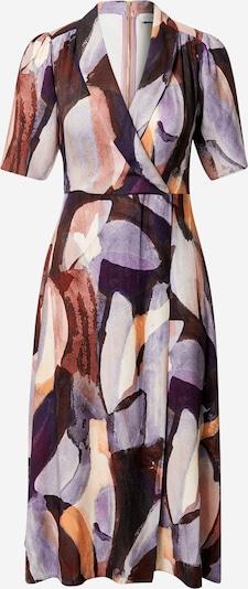 Closet London Dress in Beige / Purple / Dark purple, Item view