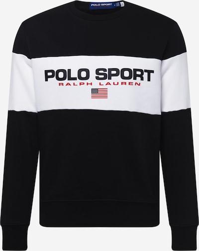 Polo Ralph Lauren Sweater majica u crvena / crna / bijela, Pregled proizvoda
