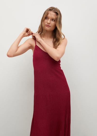 MANGO Kleid 'Baute' in bordeaux, Modelansicht