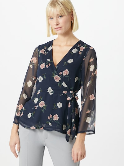 VERO MODA Bluse in nachtblau / mischfarben, Modelansicht