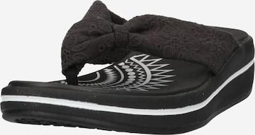 SKECHERS T-Bar Sandals in Black