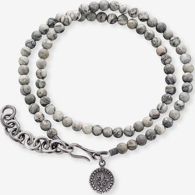 SAVE BRAVE Armband  'Gervida' in grau / silber, Produktansicht