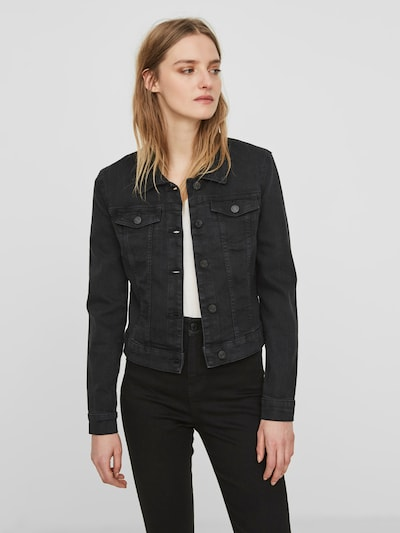 Noisy may Denim Jacke 'Debra' in black denim: Frontalansicht