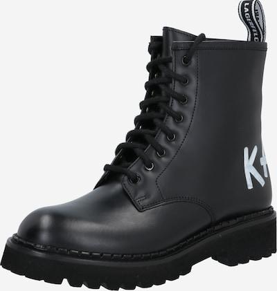 Suvarstomieji kulkšnis dengiantys batai iš Karl Lagerfeld , spalva - juoda / balta, Prekių apžvalga