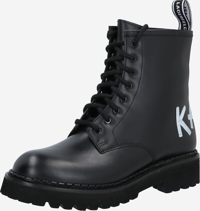 Ghete cu șireturi Karl Lagerfeld pe negru / alb, Vizualizare produs
