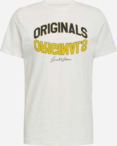 Marškinėliai 'CHRIS' iš JACK & JONES , spalva - geltona / juoda / balkšva: Vaizdas iš priekio