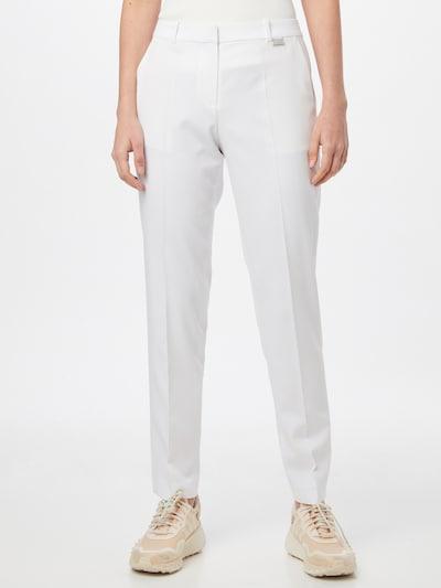 Pantaloni cutați 'Hedias' HUGO pe alb, Vizualizare model