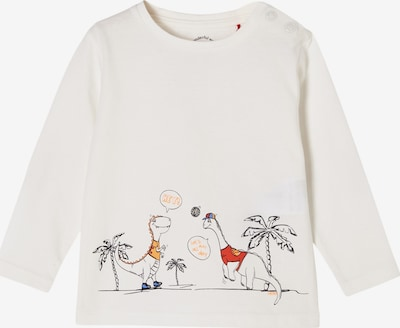 s.Oliver Shirt in de kleur Ecru / Sinaasappel / Rood / Zwart, Productweergave