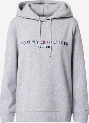 TOMMY HILFIGER Sweatshirt 'TH ESS HILFIGER HOODIE LS' in Grey