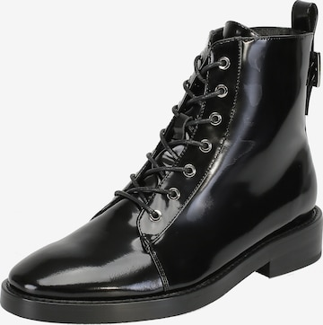 Ekonika Lace-Up Ankle Boots in Black