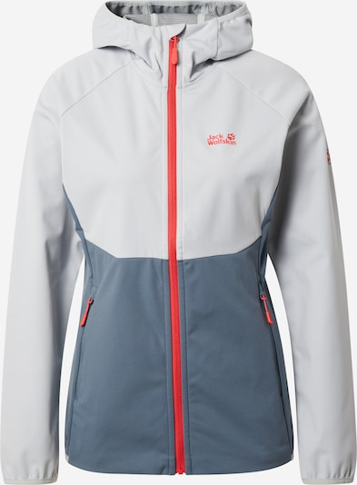 JACK WOLFSKIN Outdoor jacket 'Go Hike' in Grey / Dark grey / Light red, Item view