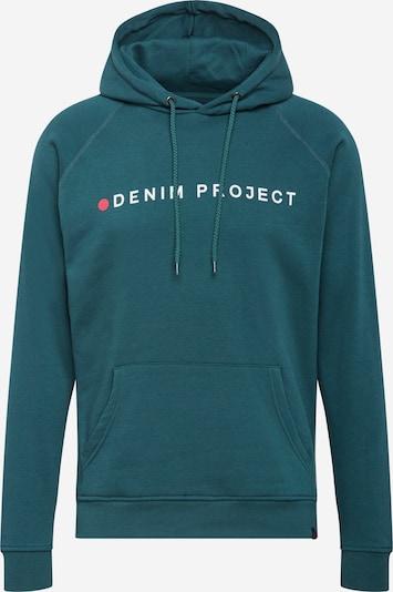 Denim Project Sweater majica u petrol / crvena / bijela, Pregled proizvoda