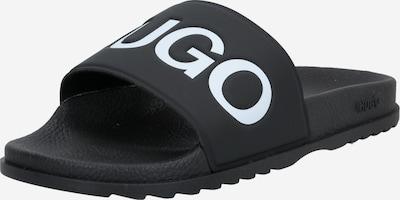 HUGO Klapki w kolorze czarny / białym, Podgląd produktu