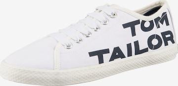 Sneaker low de la TOM TAILOR pe alb