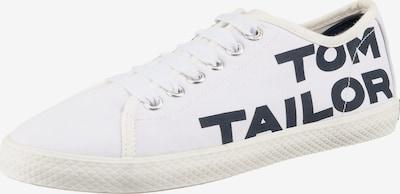 TOM TAILOR Sneaker in schwarz / offwhite, Produktansicht